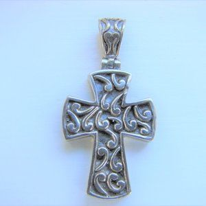 Sterling Silver 925 Cross Charm First Communion
